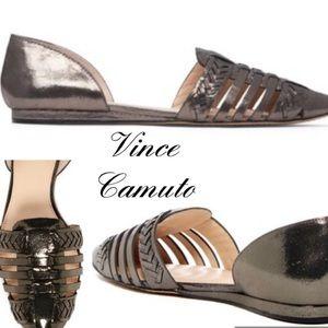 Vince Camuto Hadria Woven Metallic Slide Shoe